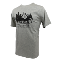 Go Wild T-Shirt Grey XL T-Shirt with unqie design from Gstove