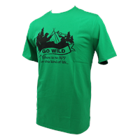 Go Wild T-Shirt Green XL T-Shirt with unqie design from Gstove